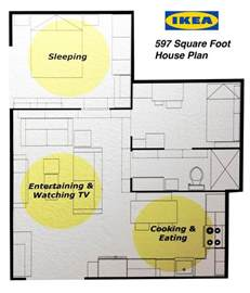 ikea small apartment floor plans ikea s 597 square foot house plan 2 bedrooms kitchen and
