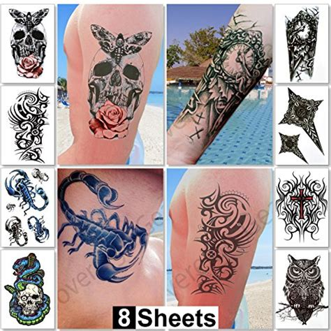 temporary body tattoos for men large temporary tattoos for guys for