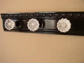 Door Knob Coat Rack Beautiful Coat Rack With 3 Glass Door Knobs And Decorative