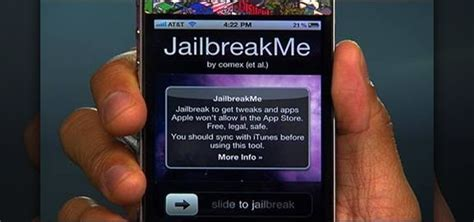 how to jailbreak iphone 4 how to jailbreak an apple iphone 4 or ipod touch with the jailbreakme website 171 ios gadget