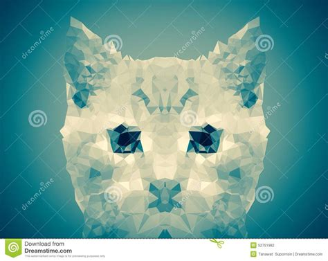 wallpaper poly cat abstract cat face blue low poly bokeh wallpaper stock