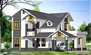 kerala sloped roof home design sloping roof home exterior in 2474 sq kerala home