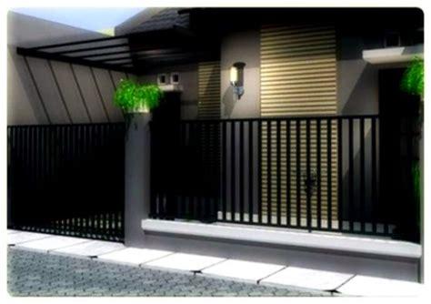 foto desain pagar minimalis model pagar minimalis design rumah minimalis