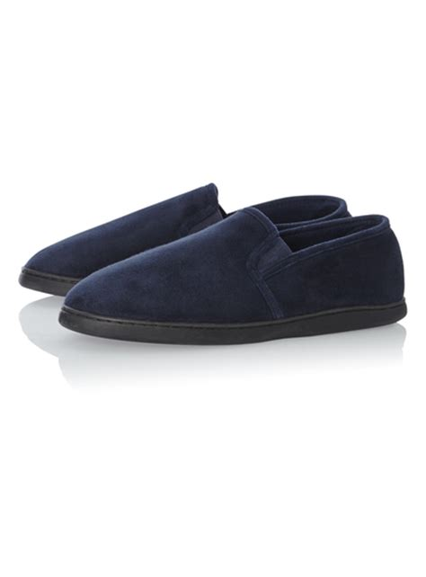 sainsburys slippers mens navy memory foam slippers tu clothing
