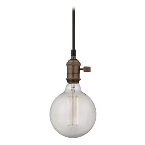 Bare Bulb Pendant Light Bronze Bare Bulb Mini Pendant Light With Vintage Globe Bulb 60 Watts Ca1 220 60g40 Filament