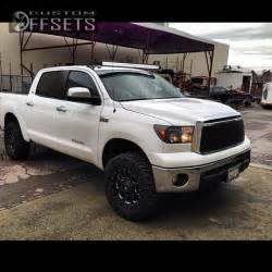 Toyota Tundra 2012 Lifted Wheel Offset 2012 Toyota Tundra Suspension Lift 3 Quot Custom Rims
