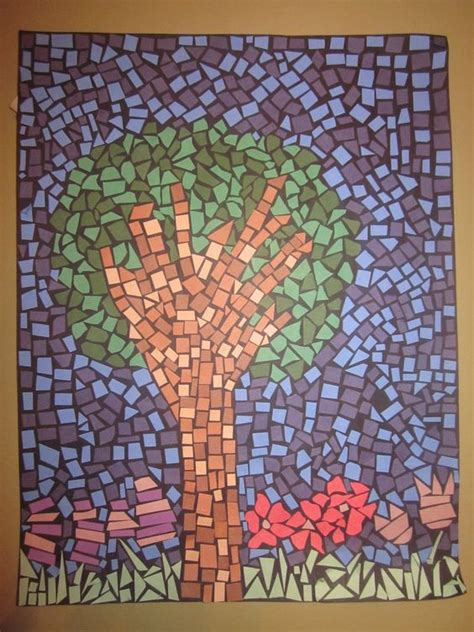 How To Make A Paper Mosaic Collage - paper mosaic leboeuf creative projects find me on