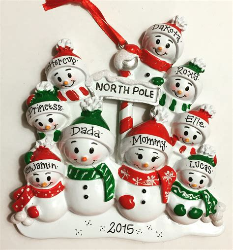 9 family personalized christmas ornament 9 by adornamentsny
