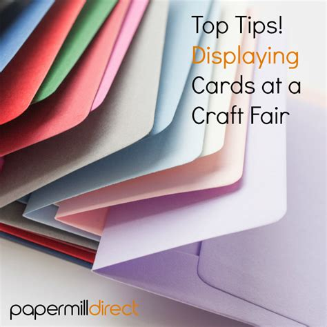How To Sell Handmade Cards - displaying cards at a craft fair
