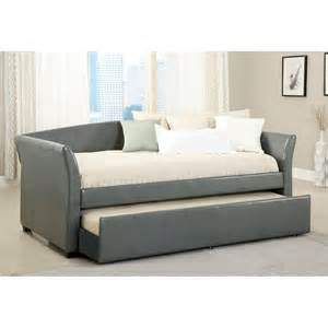 Daybed With Mattress Shop Furniture Of America Delmar Gray Daybed With Trundle At Lowes