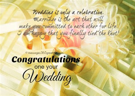 Wedding Congratulations On by Wedding Wishes And Messages 365greetings