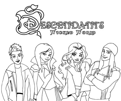 coloring pages the descendants top 15 descendants wicked world coloring pages