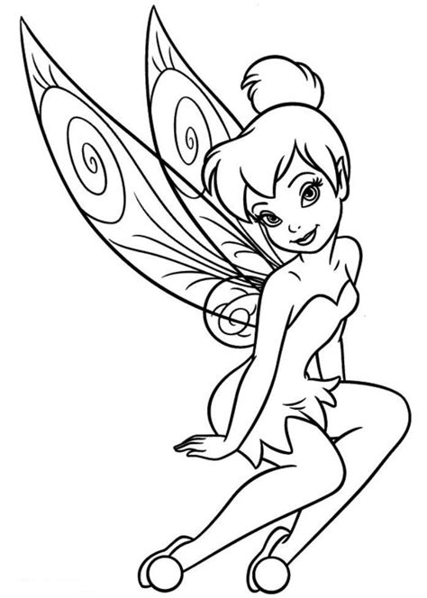 tinkerbell birthday coloring pages download and print free tinkerbell coloring pages girls
