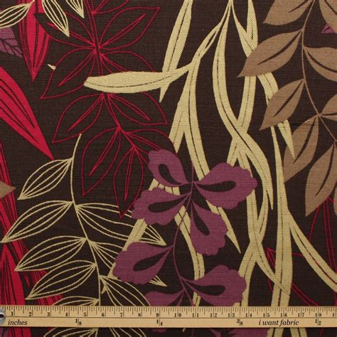 upholstery fabric prints harlequin designer cotton jute floral heavy prints curtain