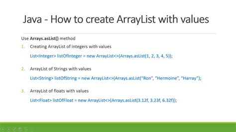 how to declare string in java how to declare arraylist with values in java exles