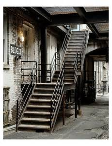 post industrial photograph print rustic stair in by mucontinent