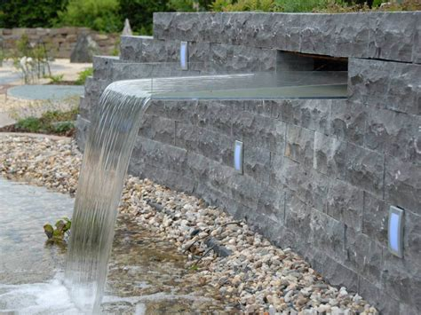 Wasserfall Garten Gabione Garten Steinmauer Wasserfall Godsriddle Info