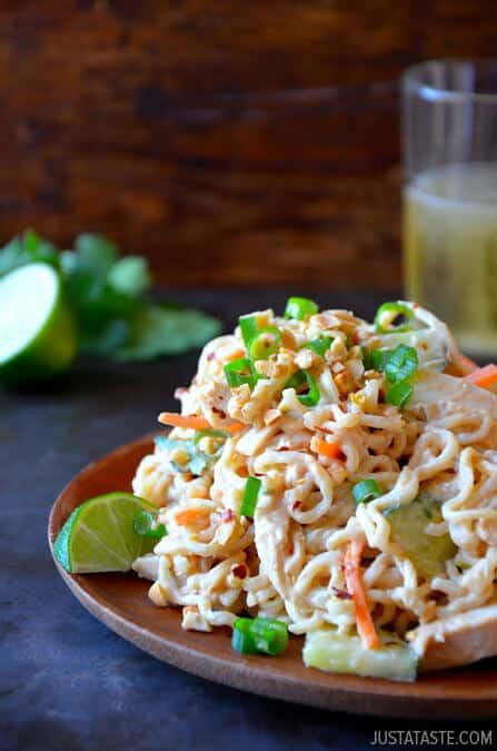 thai pasta salad thai chicken pasta salad recipe
