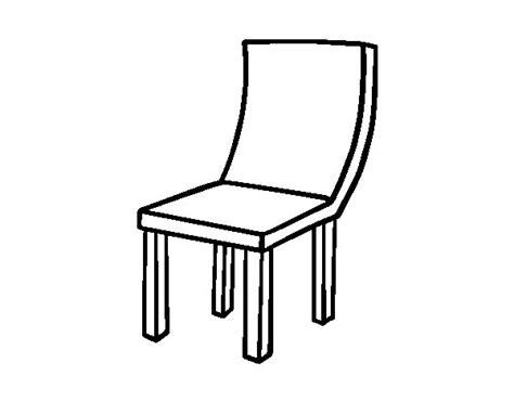 silla dibujo dibujo de silla curva para colorear dibujos net
