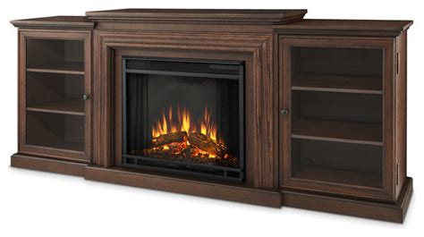 frederick entertainment unit and electric door fireplace