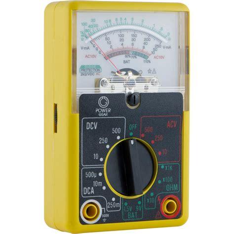 Multimeter Analog power gear 500 volt analog multimeter 50952 the home depot