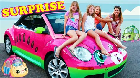 Car Minny Set 5in1 cutie cars surprising fans with a car of toys real cutie car drive thru set