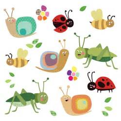 Wall Stickers Alphabet fabric insect wall stickers by spin collective