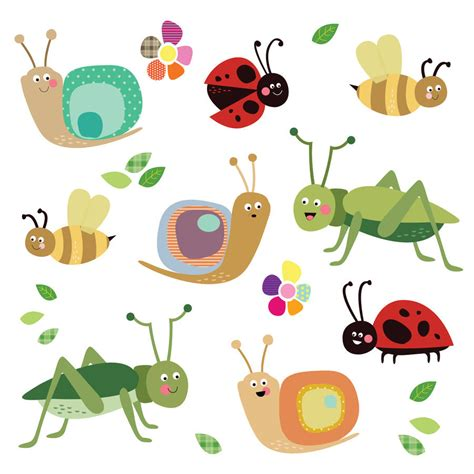 fabric insect wall stickers by spin collective notonthehighstreet