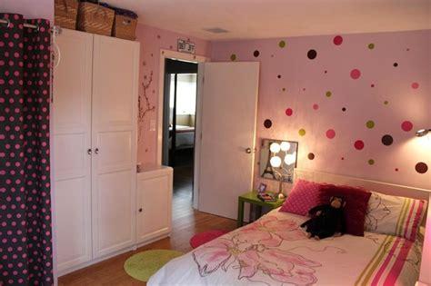 pink bedroom  polka dots eclectic kids boston