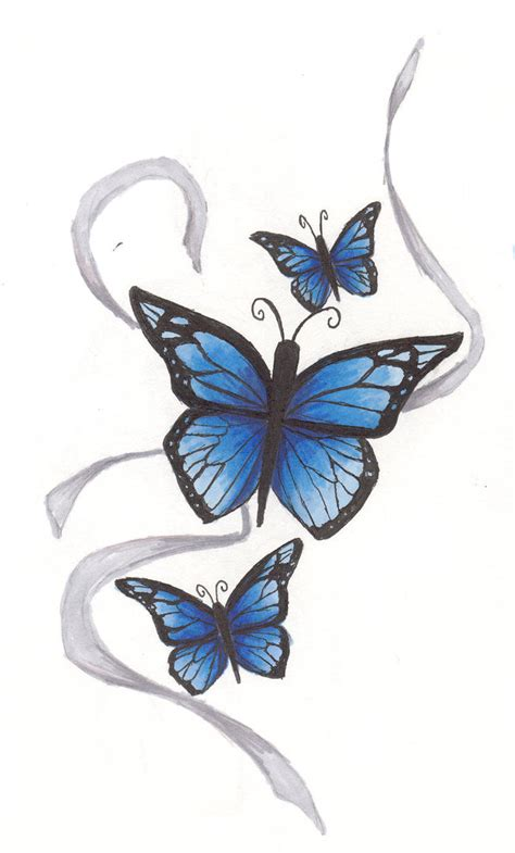 blue butterfly tattoo designs butterfly tattoos and designs page 238