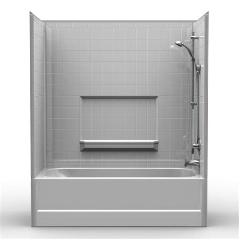 one piece bathtub with surround accessible bestbath tubs and wall kits 60x30 4 piece tub