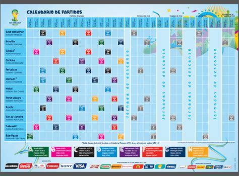 Calendario De La Calendario De Partidos Copa Mundial De La Fifa Brasil 2014