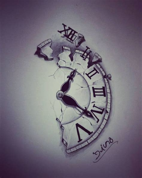 broken clock tattoo meaning simple and amazing half clock tattoos designs amazing