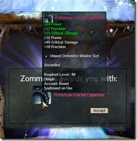 gw2 fractal capacitor glow gw2 ascended gear and infusion recipes dulfy