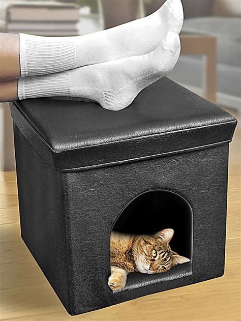 The Best Cat Condos Beds And Shelves Pets Ottomans And Cat Ottoman