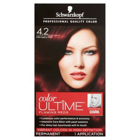 hair color at walmart schwarzkopf color ultime flaming reds hair coloring kit 4