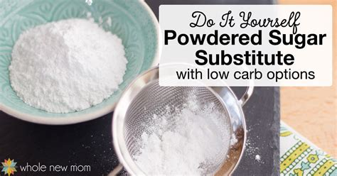 homemade powdered sugar powdered sugar substitute