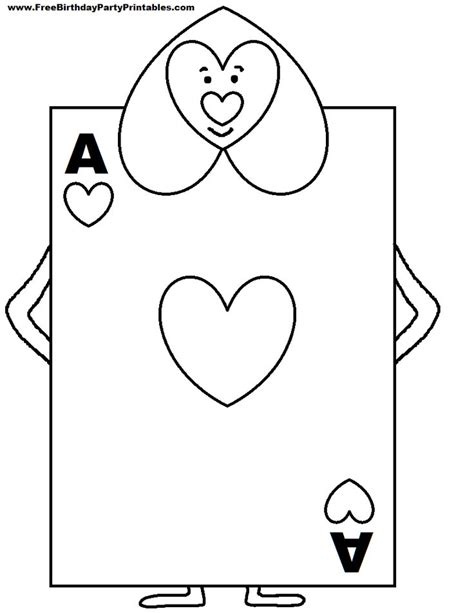 of hearts card template in card soldiers printable cutout