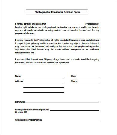 document release form template release form template 10 free pdf documents