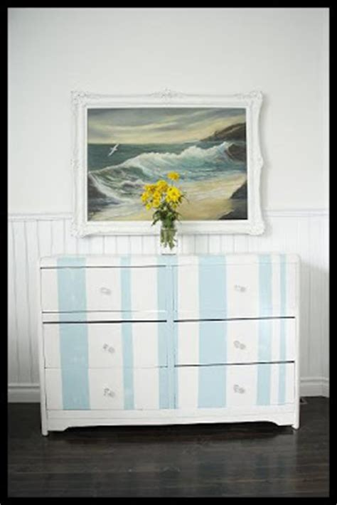 Blue And White Dresser by Cottage A Blue And White Striped Cabana Dresser