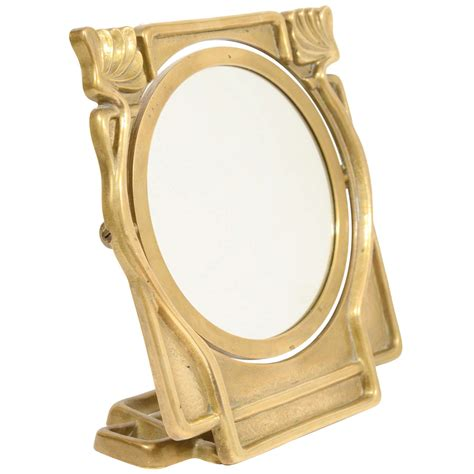 Vanity Table Top Mirrors by Nouveau Vanity Table Top Mirror In Bronze At 1stdibs