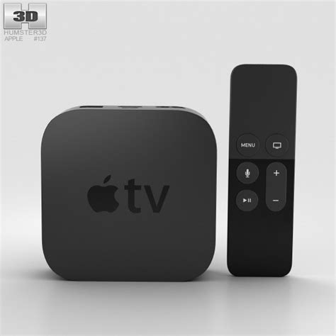 Apple Tv Models apple tv 2015 3d model hum3d