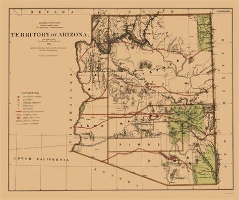 general land office maps state maps arizona territory az by general land