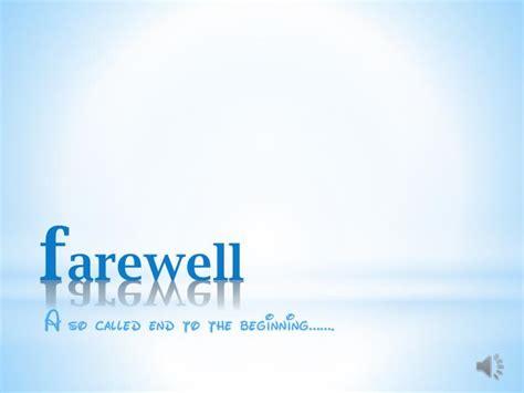 Farewell Presentation Template Alanchinlee Com Farewell Presentation Template