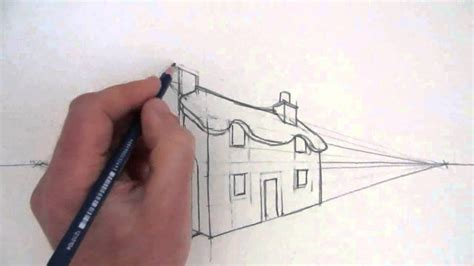 2 Drawings In 1 by How To Draw A Cottage House In Two Point Perspective