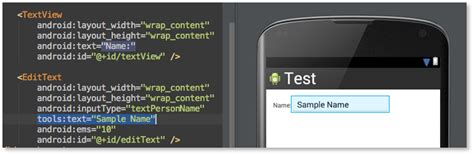 android layout design techniques designtime layout attributes android studio project site