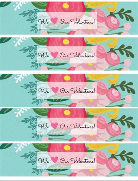 free floral printables for volunteer or teacher