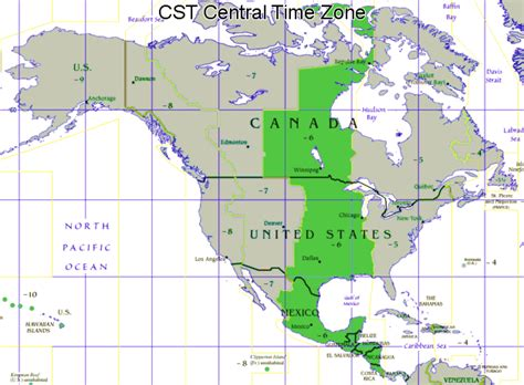 central time zone map what states make up the central time zone