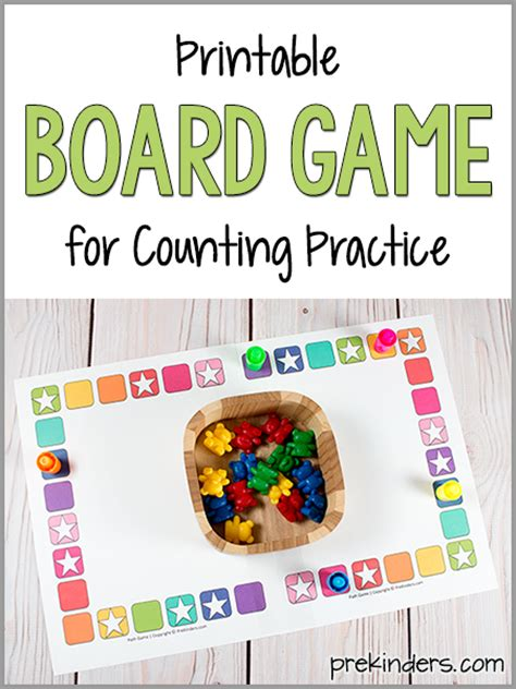printable board games for kindergarten teach counting skills with this board game prekinders