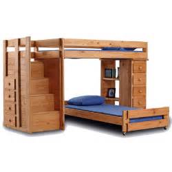 L Shaped Bunk Bed L Shaped Bunk Bed With 5 Drawer Chest And Staircase Wayfair